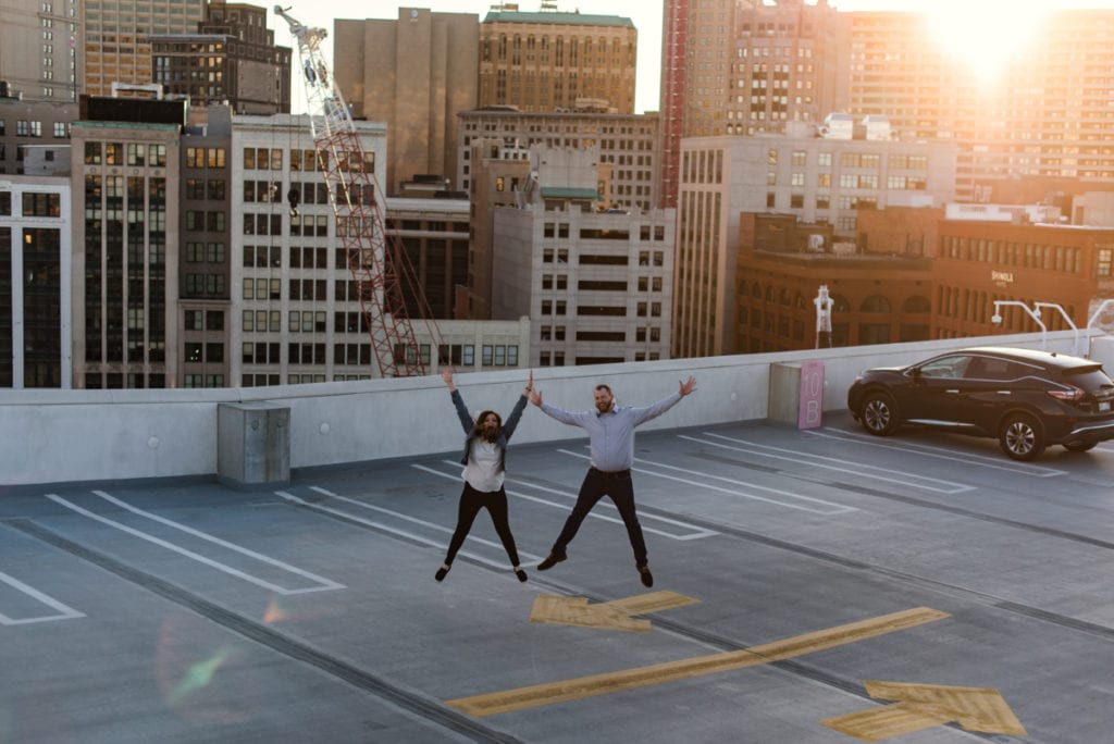 Downtown Detroit Engagement Photographer- 302
